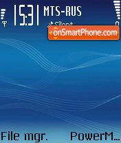 Music Edition Blue es el tema de pantalla
