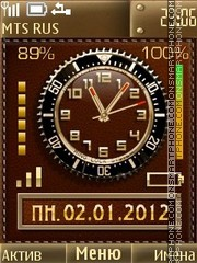 Leather Clock theme screenshot
