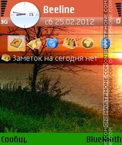 Evening theme screenshot
