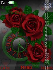 Red Rose tema screenshot