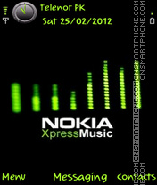 Green Xpressmusic theme screenshot