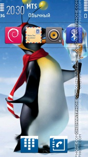 Happy Penguin 01 theme screenshot