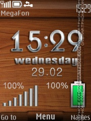 Wood Metal theme screenshot