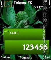 Green angel theme screenshot