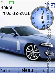 Blue Car Clock theme screenshot
