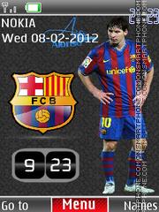 Messi Clock 02 es el tema de pantalla
