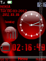 Nokia Red tema screenshot