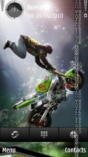 Biker boy green theme screenshot