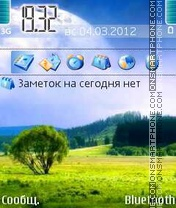 Nature tema screenshot
