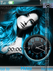 Blue Girl es el tema de pantalla