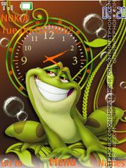 Frog Clock es el tema de pantalla