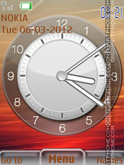 Awesome Clock 02 theme screenshot