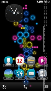 Rainbow Bubbles 03 tema screenshot