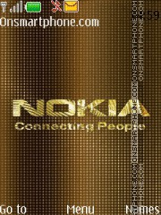Nokia Gold 02 theme screenshot