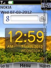 Google With Clock Theme-Screenshot