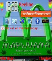 Marijuana 01 theme screenshot