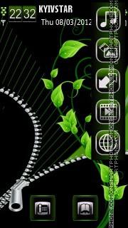 Go green es el tema de pantalla