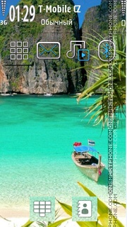 Beach Beauty 01 theme screenshot
