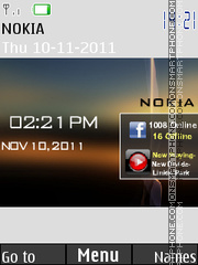 Stylish Nokia Clock 02 theme screenshot