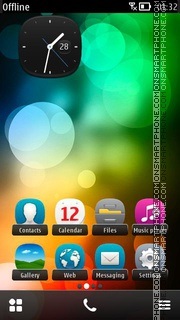 Glow HTC S3 Anna Belle es el tema de pantalla