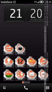 Скриншот темы Sticker Belle
