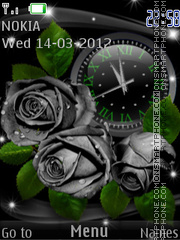 Black Roses theme screenshot