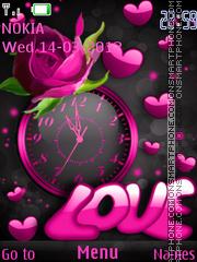 Love Clock Theme-Screenshot