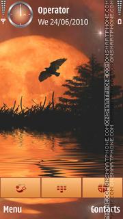 Orange Celestial Evening es el tema de pantalla
