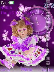 Doll Clock es el tema de pantalla