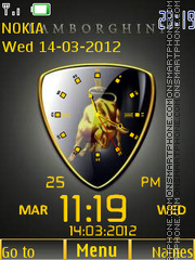 Lamborghini Clock 05 tema screenshot