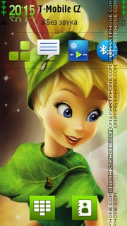 Cute Tinkerbellby theme screenshot
