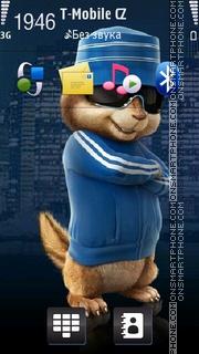 Blue Chipmunk theme screenshot