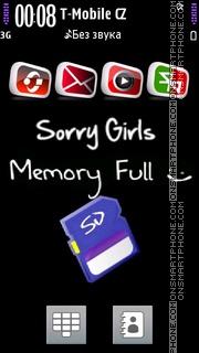 Sorry Girls theme screenshot