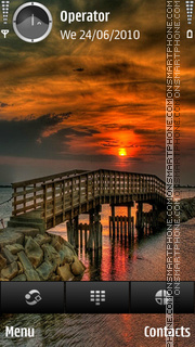 Sunset bridge theme screenshot