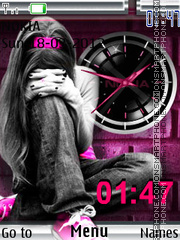 Emo Clock theme screenshot