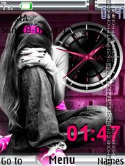 Emo Clock es el tema de pantalla