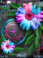 Multi-colored flower theme screenshot