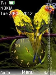 Parrot Clock Icons theme screenshot