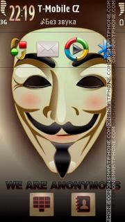 Anonymous theme screenshot