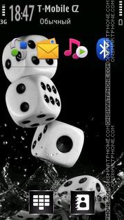 Water Dice tema screenshot