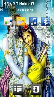 Lord Krishna theme screenshot