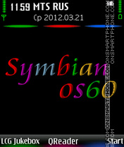 Symbian theme screenshot