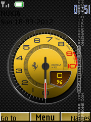 Speed Meter Clock theme screenshot
