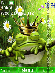 King Frog theme screenshot