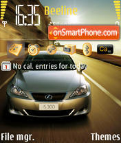 Скриншот темы Lexus2007 IS300