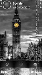 Скриншот темы Dark Big Ben