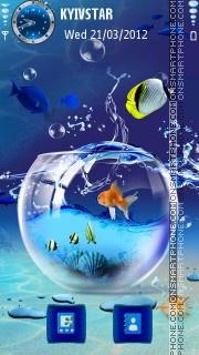 Abstract sea theme screenshot