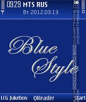 Blue-Style theme screenshot
