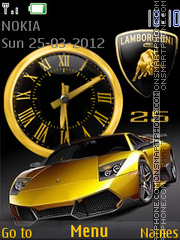 Lamborghini Clock theme screenshot