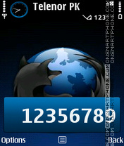 Blue Fox theme screenshot